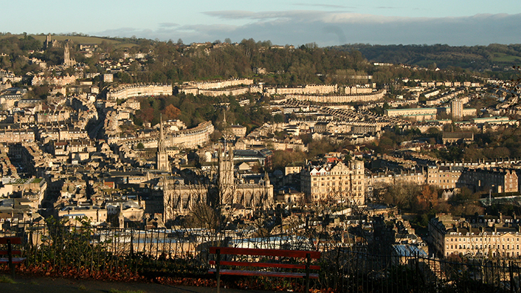 A view from Alexandra Park looking over Bath