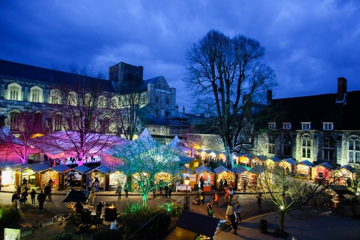 WInchester Cathedral Market and Ice Rink