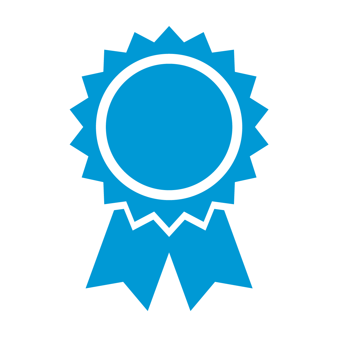 Employer of Choice Icon - a styled blue rosette