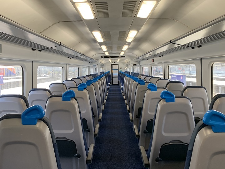 Interior of Class 442 train