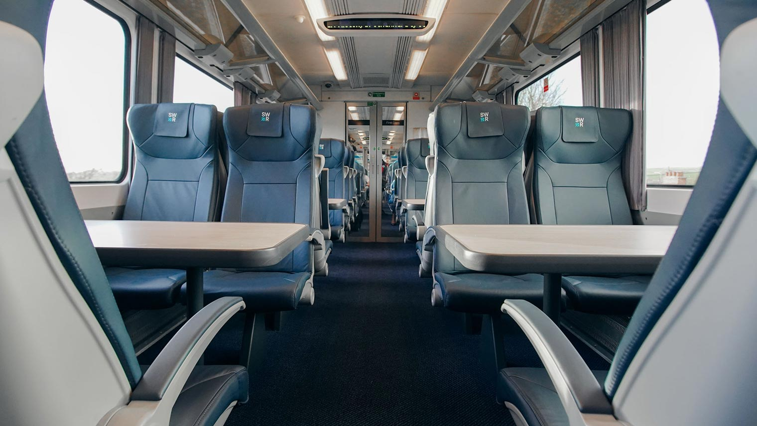 South Western Railway First Class interior