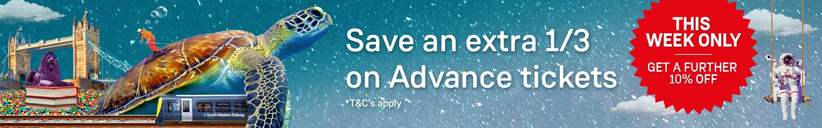 Save an extra third on Advance tickets South Western Railway