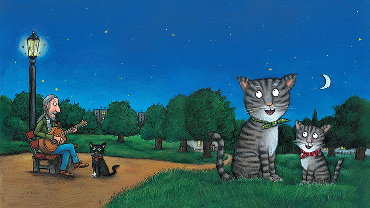 Tabby McTat (image credit Julia Donaldson and Axel Schefller)