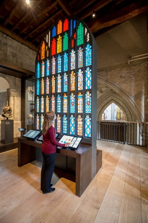 West Window interactive display at Winchester Cathedral