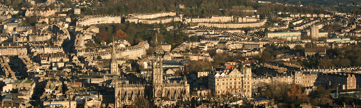 A view over the city of Bath