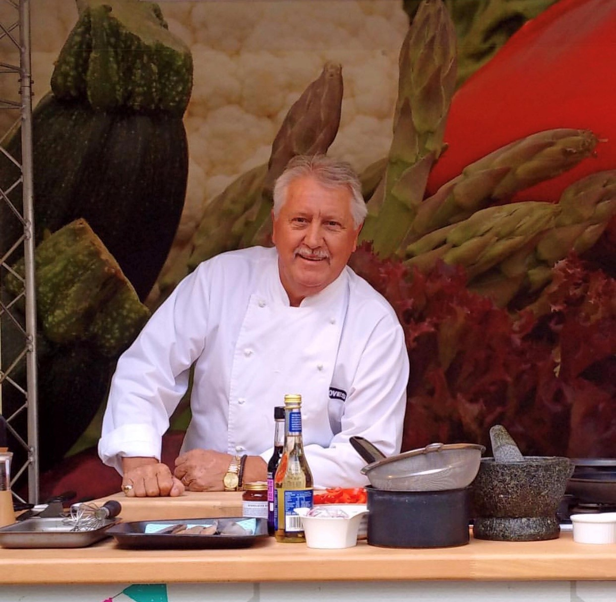Brian Turner, a guest chef at the Mudeford Seafood Festival