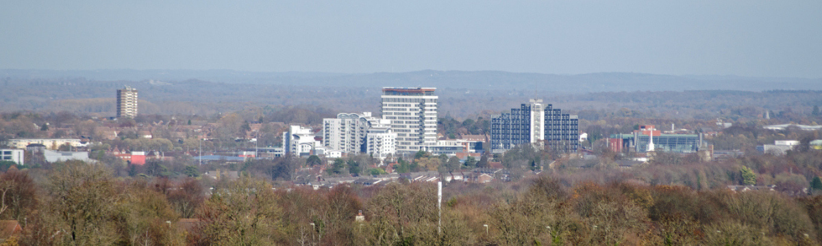 Banner Image - Basingstoke as viewed from hilltop