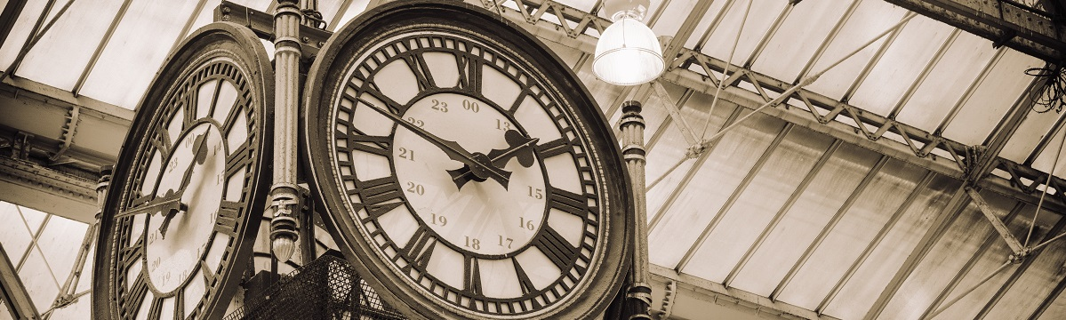 The Main clock on the concourse at London Waterloo train station