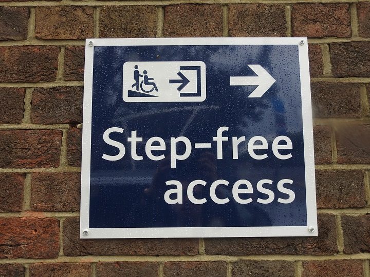 step-free access sign