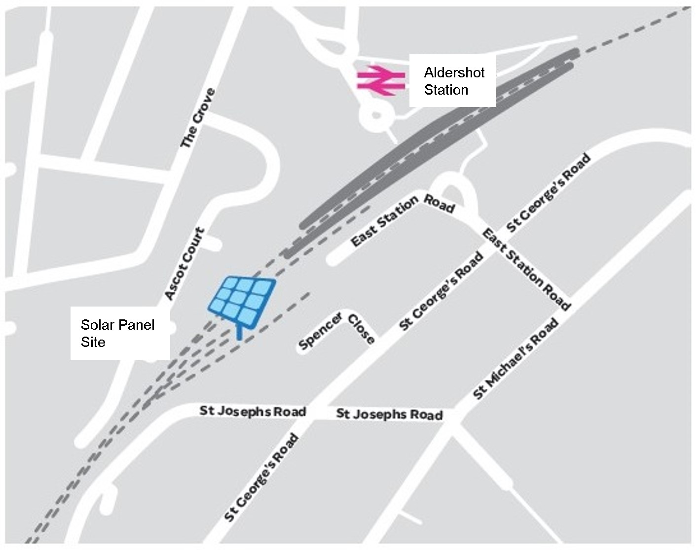 Aldershot station solar project map