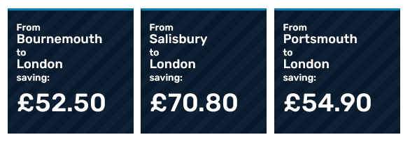 Savings for a family of four booking early on return journeys with Advance tickets