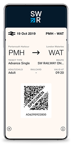 eTicket | Mobile Train Tickets | South Western Railway