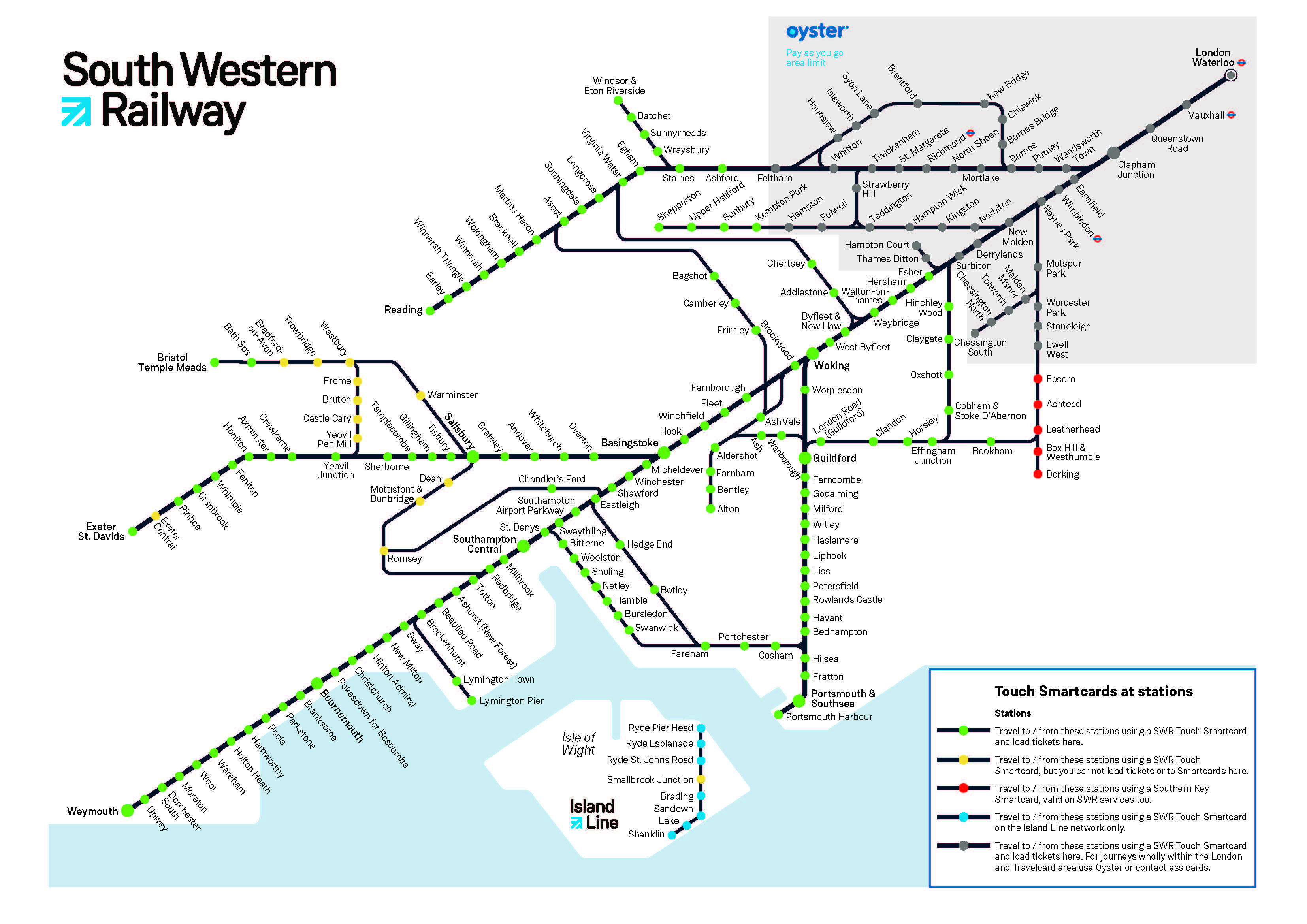 Where You Can Use Your Smartcard South Western Railway